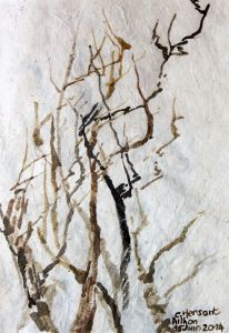 BRANCHES. Watercolor on nepalese paper. 11 x 16 cm. 2014.