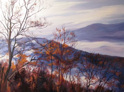 WINTER MISTS IIN THE VALLEY. Oil on canvas. 92 x 73 cm. 2008. Private collection.