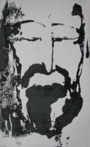 CHRIST. Encre sur papier. 1982. Collection privée.