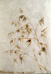 GRASSES. Watercoilor on nepalese paper. 11 x 16 cm. 2014. Private collection.