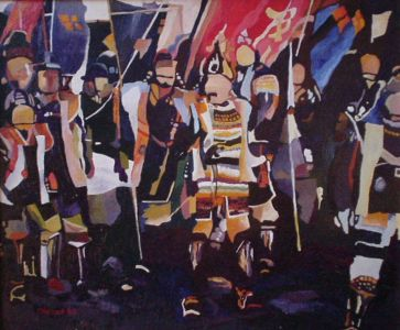 KAGEMUSHA. Oil on canvas. 55 x 46 cm. 1980. Private collection.