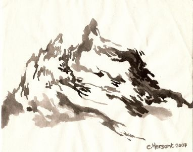 MOUNTAINS. Ink on paper. 21 x 17 cm. 2007.