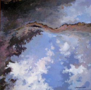 REFLECTION N°11. Oil on canvas. 40 x 40 cm. 2010. Private collection.