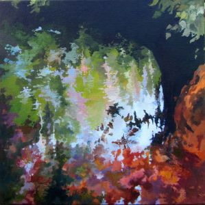 REFLECTION N°14. Oil on canvas. 40 x 40 cm. 2011. Private collection.