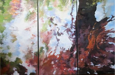 REFLECTION N°15. Triptych. Oil on canvas. 90 x 60 cm. 2013.