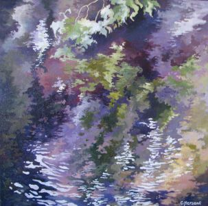 REFLECTION N°8. Oil on canvas. 40 x 40 cm. 2010. Private collection.