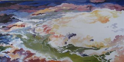 RESURGENCE N°4. Oil on canvas. 40 x 80 cm. 2008. Private collection..