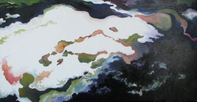 RESURGENCE N°5. Oil on canvas. 40 x 80 cm. 2008.
