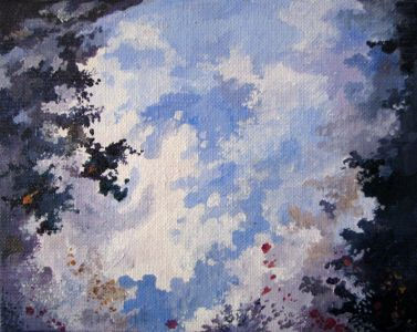 REFLECTION N°9. Acrylic on canvas. 18 x 14 cm. 2010.