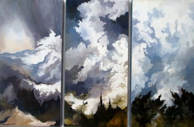 TRIPTYCH. Oil on canvas. 50 x 75 cm. 2005.